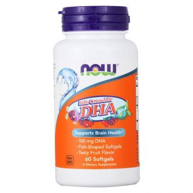 NOW DHA Omega-3 (Kids Chewable) 100 mg