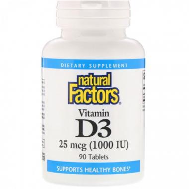 Natural Factors Vitamin D3 25 mcg