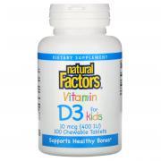 Natural Factors Vitamin D3 for kids 10 mcg