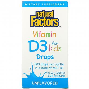 Natural Factors Vitamin D3 for kids drops