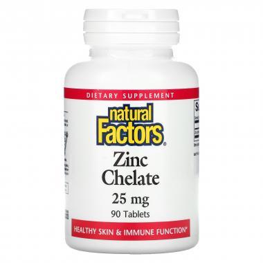 Natural Factors Zinc Chelate 25 mg