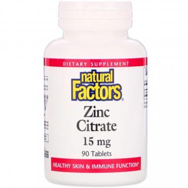 Natural Factors Zinc Citrate 15 mg